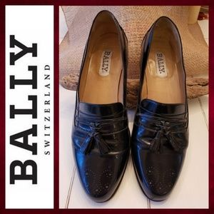 Bally of Switzerland black leather loafer